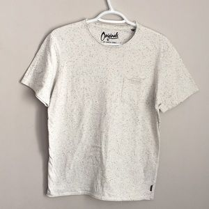 Jack and jones shirt white and black with pocket S